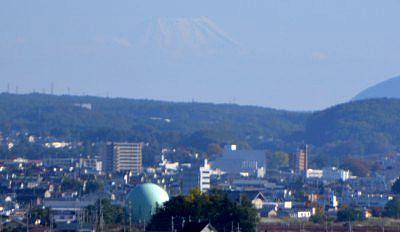 諏訪高島城から見えた富士山