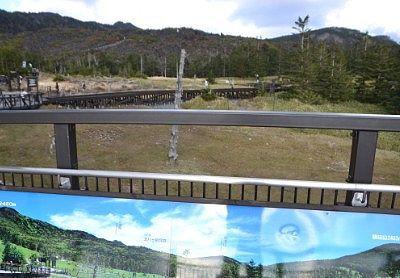 山頂駅展望台から坪庭方向の景色