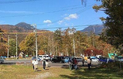 蓼科湖無料駐車場