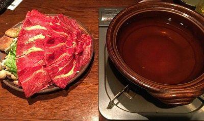 馬肉しゃぶしゃぶと鍋
