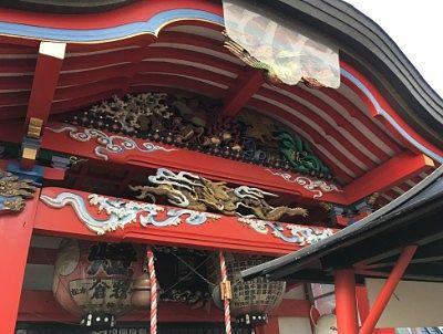 瘡守稲荷神社の彫刻