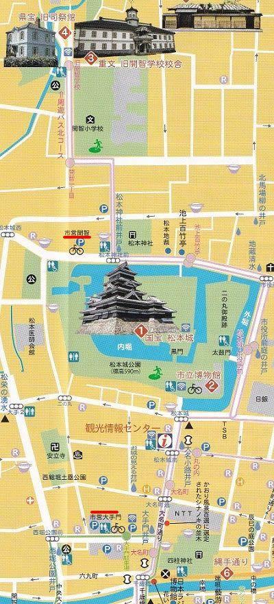 松本城駐車場マップ
