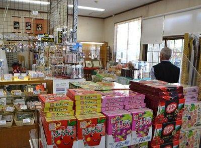 松本城売店内の様子