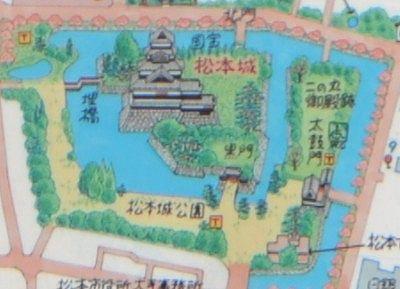 松本城公園地図