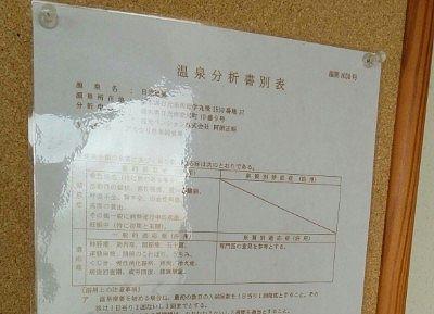 温泉分析書別表