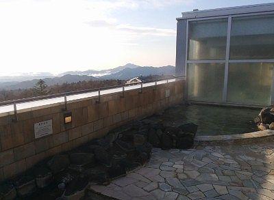温泉露天風呂と景色