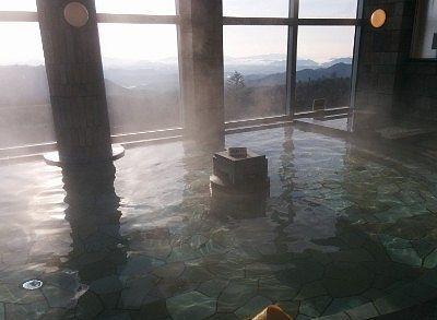 内風呂と景色