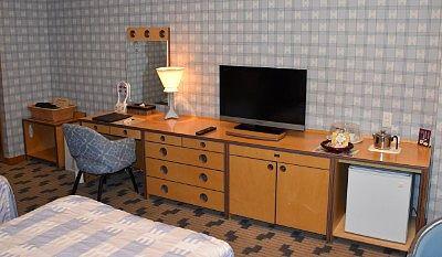 部屋のTVや机など