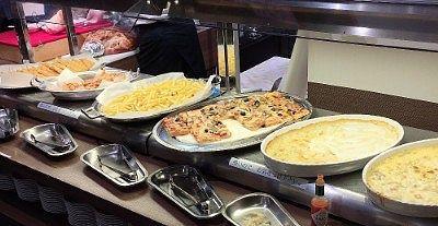 海老フライ、甘えびの素揚げ、ポテトフライ、ピザ、海老グラタン