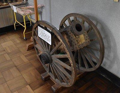 戊辰戦争で使われたとされる大砲