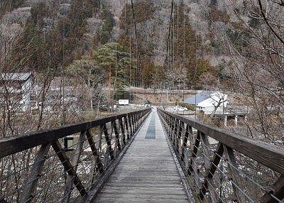 七ツ岩吊橋の様子