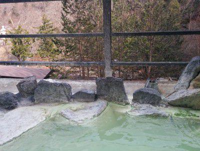 混浴御所の湯の露天風呂からの景色