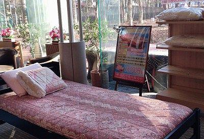売店の寝具コーナー