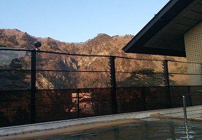 露天風呂に入りながら見えた景色