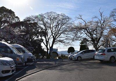 城山公園駐車場の様子