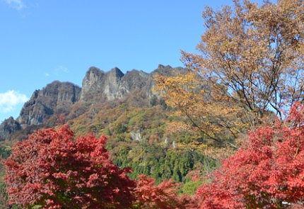 パークの紅葉と妙義山