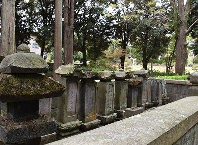 足利学校代官茂木家の墓と歴代庠主(学校長)の墓