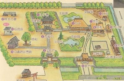 足利学校校内図