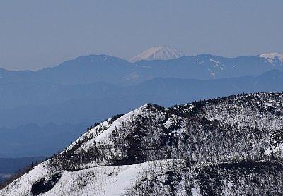 志賀草津高原ルートから見えた富士山