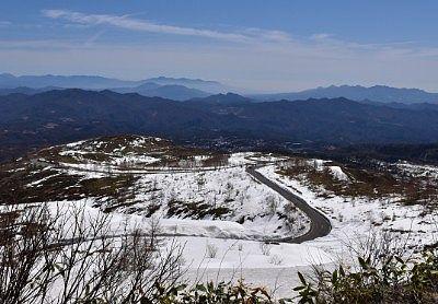 上空から見た志賀草津高原ルート