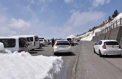 雪の回廊ウォーキングできる駐車場