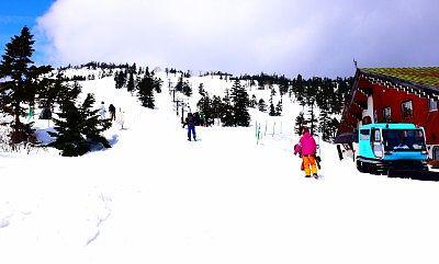 横手山スキー場の様子