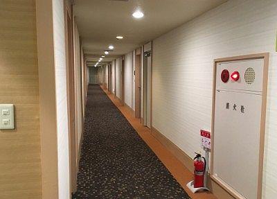 部屋前の通路