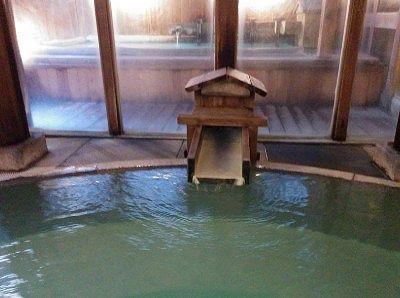 内風呂の湯口
