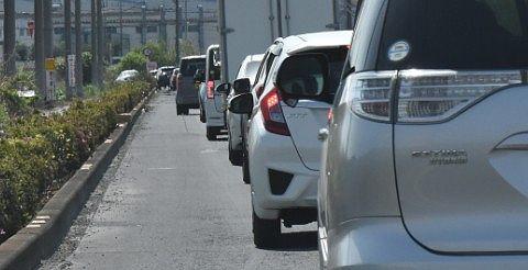 周辺道路渋滞の様子