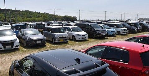 GW期間中の臨時駐車場の様子