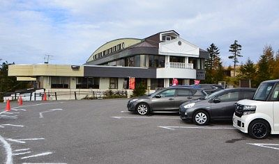 山本小屋ふる里館の駐車場の様子