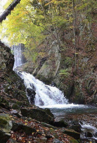 巣栗渓谷の滝の様子