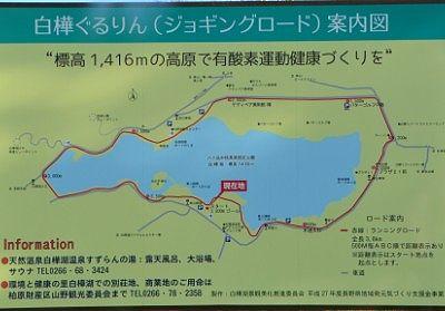 白樺ぐりりん(ジョギングロード)案内図