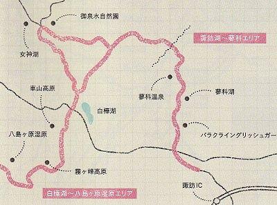 ビーナスライン地図