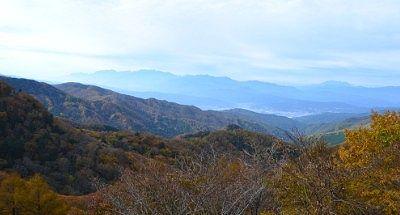 ビーナスラインからの紅葉の景色