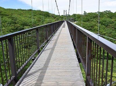 吊り橋渡り始め