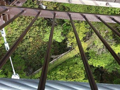 吊り橋真ん中から下の景色