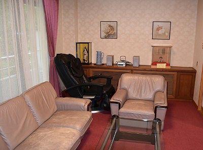 洋室にあったマッサージ機