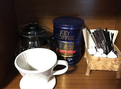 部屋のコーヒー