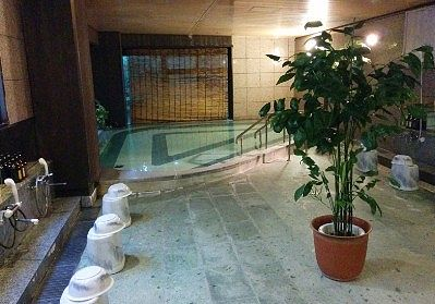 茶臼の湯の浴場内の様子