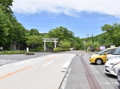 那須温泉神社前無料駐車場