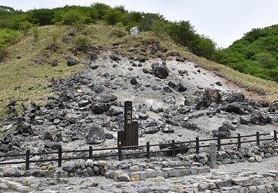 殺生石のあった斜面の様子