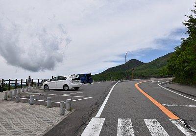 那須高原展望台(恋人の聖地)の駐車場の様子