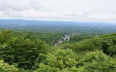 那須高原展望台(恋人の聖地)から見えた那須湯本温泉街