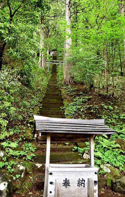 156段あった愛宕神社への石段の様子