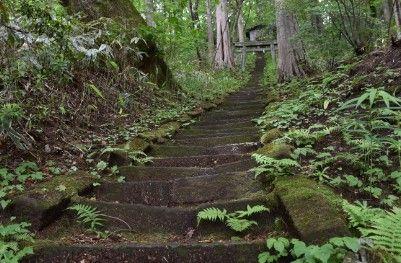 愛宕神社に続く石段