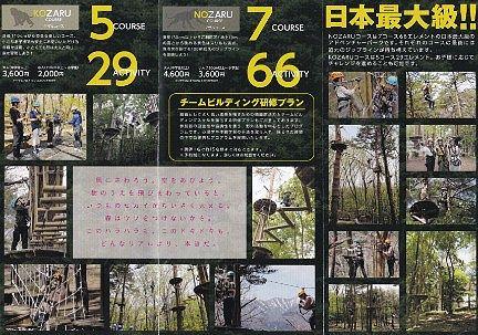 那須の森の空中アスレチックNOZARU(ノザル)パンフレット2