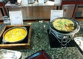 高原野菜と地鶏のトマト煮、白魚の柳川