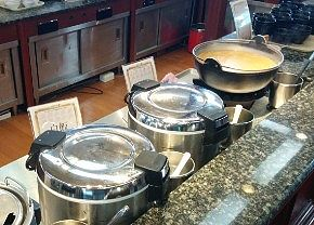 カレー、白米、豚汁、タイ飯、鯛飯