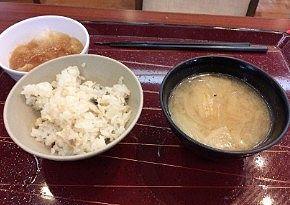 鯛飯と豚汁